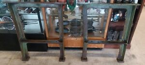 Vtg Cast Iron Industrial Machine Table Legs Diningtable Workbench Etc 33 Tall