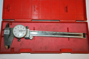 Mitutoyo Shock Proof Dial Caliper 0 6 With Case 505 637 50 In Red Case