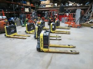 Hyster W40z Electric Pallet Jack With Charger 24 Volt