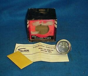 Vintage Sun Ammeter Amp Gauge Chevy Ford Dodge Buick Amc Hot Rat Rod 1101