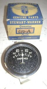 Old Vintage Antique Stewart warner Ammeter Gauge New Stock 20 0 20 Hot Rod Rat