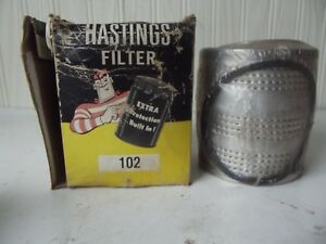 Nos Vintage Hastings Oil Filter Cartridge 102 Ford Ford Ferguson Tractors