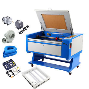 Usb 60w Co2 Laser Engraving Cutting Machine 700x500mm Trocen System rotary Axis