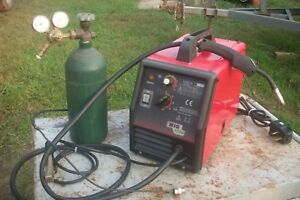 Mig 1350 Welder 220v Gas W Tank Gauges Welding Machine