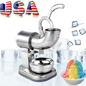 Commercial Ice Shaver Machine Snow Cone Maker Shaved Ice Electric Crusher 110v