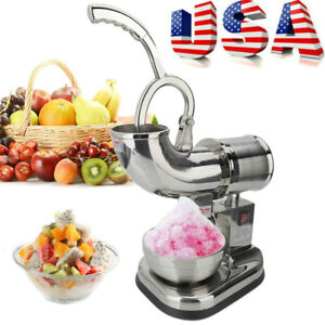 Ice Shaver Machine Electric 400lbs h Tools Stainless Shaved Ice Crusher