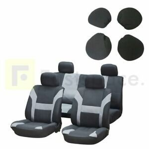 Durable Black Gray Washable Car Seat Covers W Headrest Covers For Honda