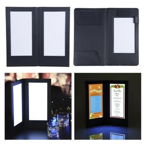 Menu Cover Led Light Check Bill Holder Receipt Card Restaurant Bars Hotel Club