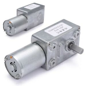 us Dc 12v 0 6rpm High Torque Turbo Worm Electric Geared Motor Gw370 Low Speed