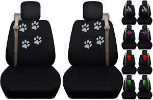 Fits Chevy Trailblazer Front Car Seat Cover Black W Cowgirl Up Barrel Racing