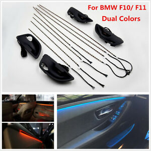 For Bmw F10 F11 Upgrade 2 Color Interior Led Ambient Atmosphere Lamp Light Strip