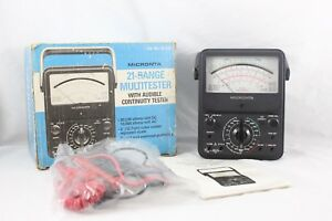 Micronta 21 Range Multitester With Audible Continuty Tester 22 210