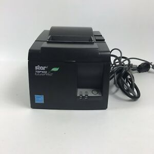 Star Micronics Tsp100eco Tsp143iiu Black Usb Thermal Receipt Printer W Paper 10