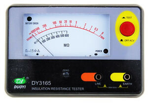 1pc Dy3165 500v Analogue Insulation Resistance Tester Resistor Resistance Meter
