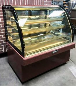 2016 Leader Mcb48 S c 48 Marble Curved Glass Refrigerated Bakery Display Case