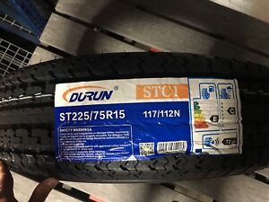 2 New St 225 75r15 Durun 10ply Radial Trailer Tires R15 75r 2257515 Load Range E