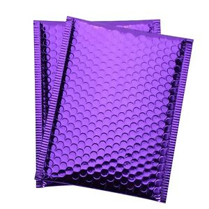 Any Size pack Purple Metallic Bubble Mailer Self Seal Padded Shipping Envelops