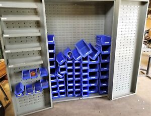 Bin Storage Cabinet 48 X 24 X 72 Heavy Gage Steel Great Condition