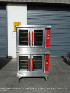 Vulcan Gas Double Stack Fulll Size Convection Oven Model Vc4gd 10
