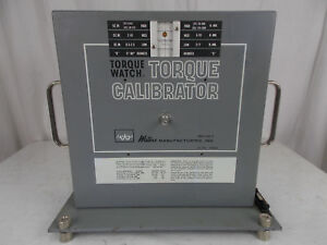 Waters Mfg Model 6500 t4 Torque Calibrator Standard tested