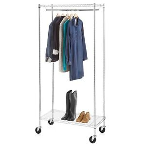 New Commercial Grade Rack Clothing Garment Collapsible Chrome