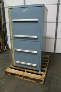 Lista Style 4 Drawer Tool Cabinet 59 Tall X 30 Wide X 29 Deep 13 Deep Drawer