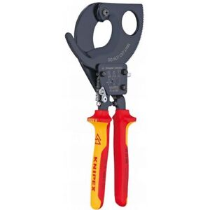 Knipex Insulated 2 Capacity Ratchet Action Cable Cutters