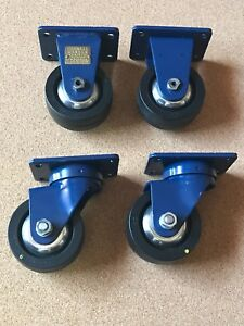 Set Of 4 1363 Sdn Darnell Casters 2 stationary 2 swivel