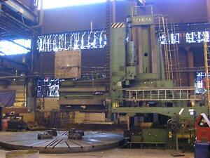 6400 12000 Mm Schiess Vertical Boring Mill 4 2 Vke With Live Spindle 1968