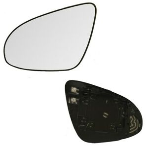 Fits 13 17 Toyota Camry Driver Side Mirror Glass With Back Plate Heated
