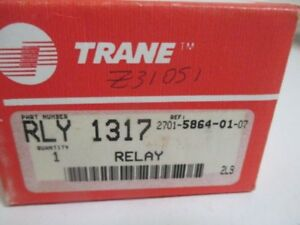 Trane Rly 1317 Time Delay Relay 100 Sec 1amp 120vac New In Box