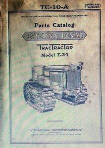 T 20 International Tractractor Crawler Tractor Owner Service Parts 3 Manuals
