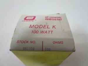 Ohmite Rks100 Rheostat 100ohms new In Box