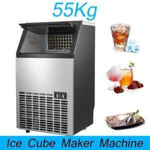 Automatic Commercial Ice Cube Maker Machines Home Bar Coffee Shop 55kg 121lbs