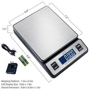 Weighmax Series 2809 90 Lb X 0 1 Oz Digital Stainless Shipping Postal Scale