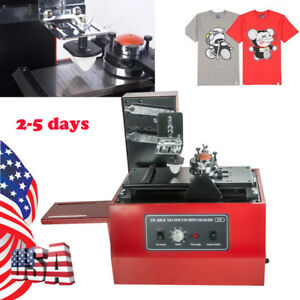 Us Electric Pad Printer Printing Machine T shirt Oil Ink Print Mug Ball Pen Logo