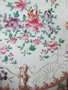 Superb French Samson Porcelain Reticulated Plate 18th C Chinese Export Style