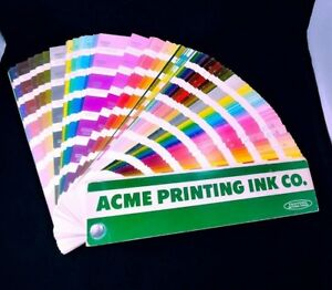 Vintage Pantone Color Formula Guide 1963 Fan Acme Printing Ink Co