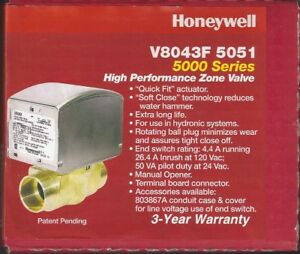 New Honeywell V8043f5051 Motorized Quick Fit Zone Valve 1