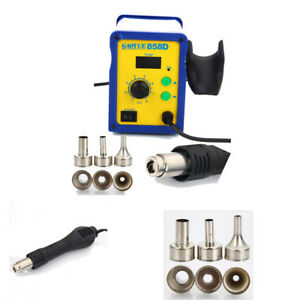 858d 110v Smd Rework Esd Soldering Station Hot Air Gun Desoldering Tool Set Kit