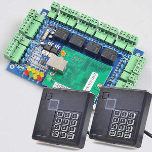 Network Entry Access Control Board Tcp ip Panel 2 Rfid Reader Pin Keypad Wiegand