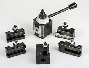 Axa Piston Tool Post Set Cnc High Precision Quick Change Lathe Holder 100 Series