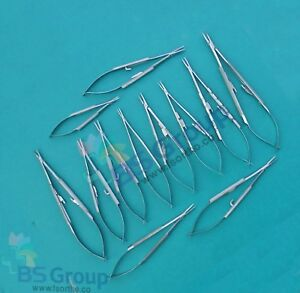 12 Pieces Set Of Castroviejo Micro Surgery With Needle Holder Str