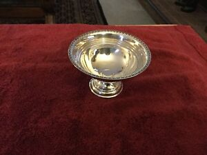 Sterling Silver Candy Nut Compote Dish Pedestal Weighted 2 3 4 Inch S High