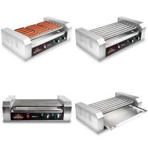 900 watt Olde Midway Electric 18 Hot Dog 7 Roller Grill Cooker Machine
