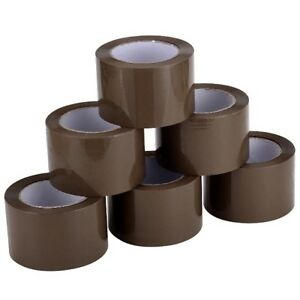 24 Rolls 3 x110 Yds 330 brown Carton Sealing Packing Package Tape 2mil Fedex