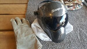 Snap on Welding Helmet With Gloves