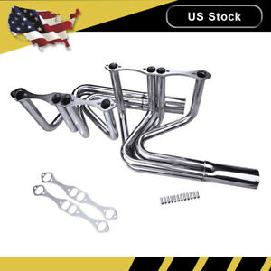 Exhaust Manifold Headers Kit For Chevy Small Block 265 400 T Bucket Roadster
