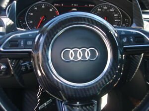 Fit Audi Tt Tts Tt Rs Late Models 08 17 Carbon Fiber Steering Wheel Center Cover