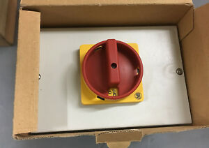 Allen bradley 194e y63 1753 6n Disconnect Switch Enclosed 63a 500vac 3p Red